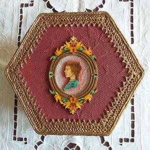 Viktoriánus hölgy - fa ékszerdoboz, Ékszer, Ékszertartó, Ékszerdoboz, Festett tárgyak, Meska