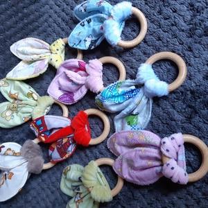 Nyuszifül rágóka, Játék & Gyerek, 3 éves kor alattiaknak, Rágóka, Varrás, Meska