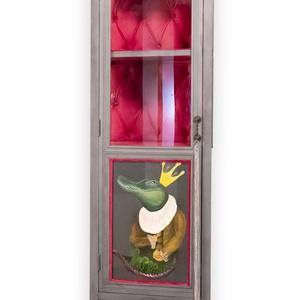 Exclusive design vitrin, Otthon & Lakás, Bútor, Szekrény, Famegmunkálás, Festészet, Páratlan, egyedülálló megjelenés. A bútor frontját eredeti akril festmény díszíti, ami elé egy üvegl..., Meska