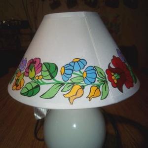 Kalocsai kézzel festett kis lámpa ., Otthon & Lakás, Lámpa, Állólámpa, Szabad kézzel festem ,eredeti kalocsai minta alapján ., Meska