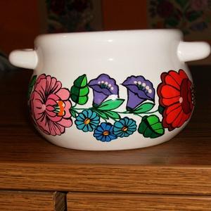 Kalocsai kézzel festett porcelán tálka ., Otthon & Lakás, Konyhafelszerelés, Festett tárgyak, Meska