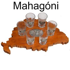 Faragott italkínáló Nagy-Magyarország alakú, Nagy-Magyarország ón cimkével. (batadecor) - Meska.hu