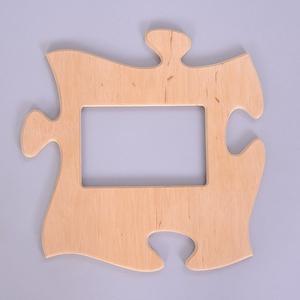 Puzzle képkeret, Otthon & lakás, Dekoráció, Lakberendezés, Képkeret, tükör, Famegmunkálás, Gravírozás, pirográfia, Puzzle képkeret\n\nMérete: \nKis keret: 27,2x27,2 cm\nNagy keret: 27,2x51 cm\n\nAnyaga: 12 mm-es rétegelt ..., Meska