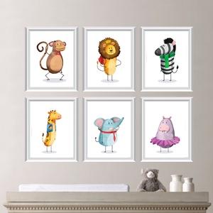 Babaszoba fali dekoráció, majom, oroszlán, zebra, zsiráf, elefánt, viziló fali kép A4 méretben, Gyerek & játék, Gyerekszoba, Baba falikép, Otthon & lakás, Dekoráció, Fotó, grafika, rajz, illusztráció, Papírművészet, Babaszoba | Gyerekszoba fali képek, állatos képek keret nélkül\n\nAz ár 1 db-os képre vonatkozik. Az ö..., Meska