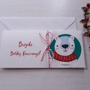 Karácsonyi pénzátadó boríték -  jegesmedve, hóember, rénszarvas, pingvin, mézeskalács, mikulás figurákkal, Boríték, Papír írószer, Otthon & Lakás, Fotó, grafika, rajz, illusztráció, Papírművészet, Tedd személyessé a karácsonyi meglepetésed, akkor is, ha praktikus megoldásként inkább az ajándékra ..., Meska