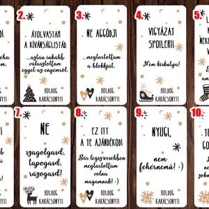 Karácsonyi vicces ajándékkísérő kártya szett - Boldog Karácsonyt felirattal, Otthon & Lakás, Karácsony & Mikulás, Karácsonyi képeslap, Fotó, grafika, rajz, illusztráció, Papírművészet, Karácsonyi vicces ajándékkísérő kártya szett - Boldog Karácsonyt felirattal\n\n10 db különböző ajándék..., Meska