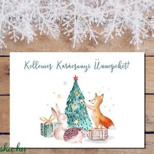 Nagymama házirendje falikép + karácsonyi képeslap, Karácsonyi képeslap, Karácsony & Mikulás, Otthon & Lakás, Fotó, grafika, rajz, illusztráció, Papírművészet, Nagymama házirendje falikép + karácsonyi képeslap Alíz egyedi megrendelése alapján\n\nAz ár 1db-os kép..., Meska