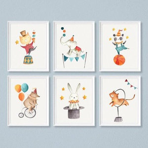 Babaszoba fali dekoráció, - cirkuszi fellépés -  fali kép A4 méretben, keret nélkül, Gyerek & játék, Gyerekszoba, Baba falikép, Dekoráció, Otthon & lakás, Fotó, grafika, rajz, illusztráció, Papírművészet, Babaszoba fali dekoráció, - cirkuszi fellépés -  fali kép A4 méretben, keret nélkül\n\nAz ár 1 képre v..., Meska
