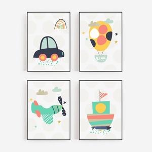 Babaszoba / Gyerekszoba falikép, autó, hőlégballon, repülő, hajó - A4 méretben, KERET NÉLKÜL, Játék & Gyerek, Fotó, grafika, rajz, illusztráció, Babaszoba / Gyerekszoba falikép, autó, hőlégballon, repülő, hajó - A4 méretben, KERET NÉLKÜL\n\nAz ár ..., Meska