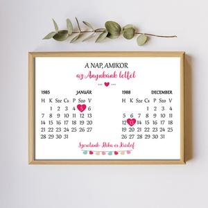 Anyák napi ajándék - A4-es fali kép keret nélkül - tökéletes ajándék Anyukádnak - tesós kivitelben, két dátummal, Otthon & Lakás, Kép & Falikép, Dekoráció, Anyák napi ajándék - A4-es fali kép keret nélkül - tökéletes ajándék Anyukádnak - tesós kivitelben, ..., Meska