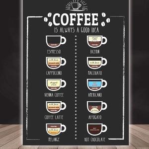 Coffee is always a good idea  - kávés falikép, kávéimádóknak A4 méretben, Gyerek & játék, Baba-mama kellék, Otthon & lakás, Dekoráció, Kép, Fotó, grafika, rajz, illusztráció, Papírművészet, Coffee is always a good idea  - kávés falikép, kávéimádóknak A4 méretben\n\n\nA poszter mérete: A4\n\nA p..., Meska
