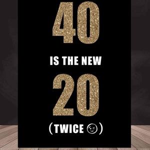 Születésnapi poszter - 40. szülinap, vicces, egyedi poszter, mérföldkő negyvenedik - 40 az új 20, Otthon & Lakás, Dekoráció, Kép & Falikép, Fotó, grafika, rajz, illusztráció, Papírművészet, Születésnapi poszter - 40. szülinap, vicces, egyedi poszter, mérföldkő negyvenedik , scrabble\n\nA pos..., Meska