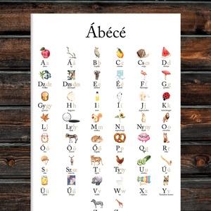 Magyar 44 betűs bővített ABC poszter- színes, kedves dizájnnal, Otthon & Lakás, Dekoráció, Falra akasztható dekor, Fotó, grafika, rajz, illusztráció, Papírművészet, Magyar 44 betűs bővített ABC poszter- színes, kedves dizájnnal KERET NÉLKÜL\n\nAz ár 1 db A4-es képre ..., Meska