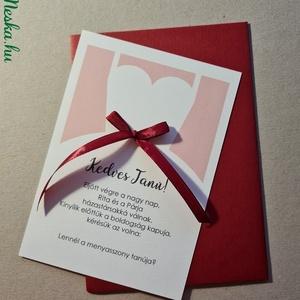 Női esküvői tanúfelkérő lap - elegáns esküvői képeslap, Otthon & Lakás, Papír írószer, Képeslap & Levélpapír, Fotó, grafika, rajz, illusztráció, Papírművészet, Női esküvői tanúfelkérő lap - elegáns esküvői képeslap\n\nHa ilyen egyedi ajándékkal kedveskedsz a lee..., Meska