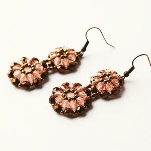 Rózsa-bronz fülbevaló (beaDapple) - Meska.hu