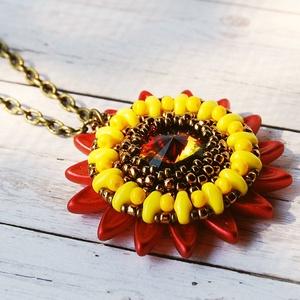 Sunflower III. (beaDapple) - Meska.hu