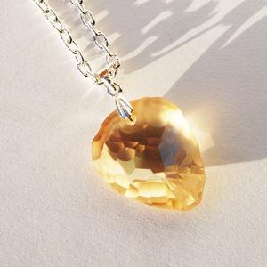 Swarovski szikla medál- Crystal golden shadow (beaDapple) - Meska.hu