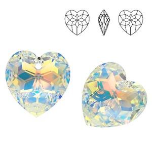Swarovski szív medál- Crystal Ab (beaDapple) - Meska.hu
