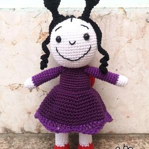 A kis  katicalány, Játék & Gyerek, Baba & babaház, Baba, A kicsik egyik kedvenc mesefiguráját horgoltam meg, a katicalányt.  100% pamut fonalból készült, sze..., Meska