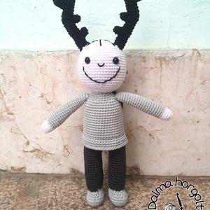 Szarvasbogár fiú , Játék & Gyerek, Baba & babaház, Baba, A kicsik egyik kedvenc mesefiguráját, a kis szarvasbogár fiút készítettem most el nektek.  Teste jó ..., Meska