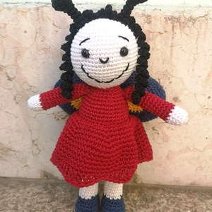 A kis lepkelány , Játék & Gyerek, Baba & babaház, Baba, A kicsik egyik kedvenc meséjének pillangószárnyú hősét, a kis lepkelányt készítettem most el.   A le..., Meska