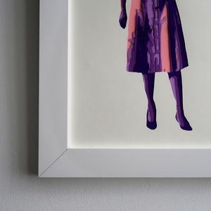 Vintage Fashion Fali Dekor Kép Retro Fej Nélkül Fali Dízs Kézzel Vágott Lila Színes Papírból A4es Kép 34x26cm Keret (beardyart) - Meska.hu