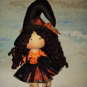 Mini boszi, Halloween, Halloweeni figurák, Baba-és bábkészítés, Varrás, Meska