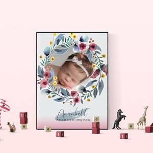 Babaneves/adatos dekorkép, Otthon & Lakás, Dekoráció, Kép & Falikép, Fotó, grafika, rajz, illusztráció, Mindenmás, Születési adatos, neves képek.\nAjándékba, vagy csak emlékül egy kis csoda érkezéséről!\nVálaszthatsz ..., Meska