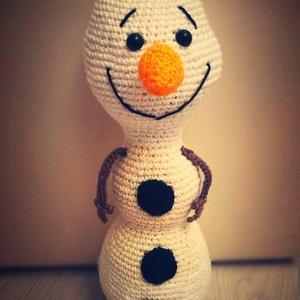 Olaf, a hóember, Játék & Gyerek, Plüssállat & Játékfigura, Bababarát fonalból, kézzel horgolt Olaf, a hóember. , Meska