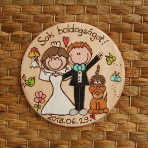 Esküvői hűtőmágnes, Esküvő, Nászajándék, Otthon & lakás, Konyhafelszerelés, Mindenmás, Különleges, személyes ajándékot szeretnél adni nászajándékba?\nAkkor megtaláltad!\n\nKüldj egy leírást ..., Meska