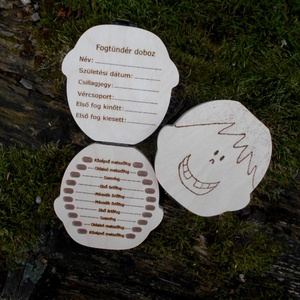 Tejfogtartó doboz fiúknak személyes adatokkal (Beecreative) - Meska.hu