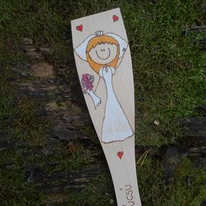Személyre szóló esküvő fakanál , Esküvő, Nászajándék, Emlék & Ajándék, Névre szóló, egyedi, színezett fakanál eljegyzésre, esküvőre. Csak annyit kell tenned, hogy megírod,..., Meska