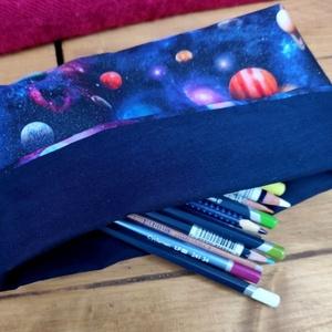 Textil asztali ceruzatartó, bolygók - Meska.hu