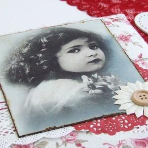 GOOD OLD TIMES fotóalbum rózsás textillel (BeHappyBooks) - Meska.hu