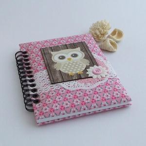 PRETTY PINK napló, rózsaszín virágos (BeHappyBooks) - Meska.hu