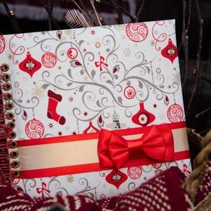 Red Christmas fotóalbum, kicsi, Otthon & Lakás, Papír írószer, Album & Fotóalbum, Könyvkötés, Fotóalbum Karácsonyra! Ideális ajándék a nagymamának.\nAz album rendelésre készül. \n\nLehet kérni feli..., Meska
