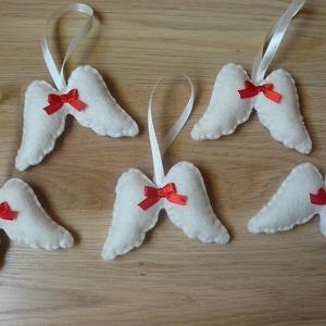 Filc angyalszárnyak (piros) (bejus) - Meska.hu