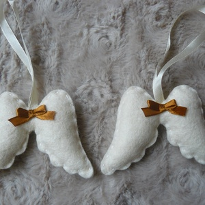 Filc angyalszárnyak barna masnival (bejus) - Meska.hu