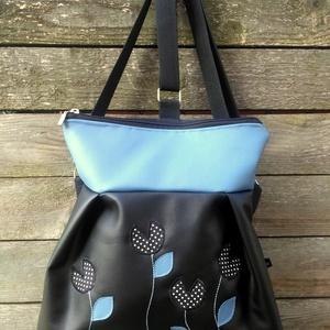 3in1 táska fekete kék pöttyös (belinbolt) - Meska.hu