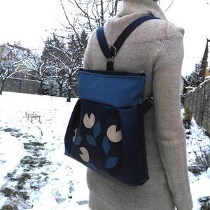 Tulipános kék 3in1 hátizsák (belinbolt) - Meska.hu