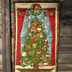 Adventi naptár, Adventi naptár, Karácsony & Mikulás, Otthon & Lakás, Varrás, Édességmentes adventi várakozás. A kicsik minden nap egy puha textildíszt rakhatnak fel a fára. A  h..., Meska