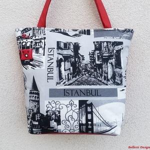 Istanbul mintás nagy pakolós táska - meggypiros, Táska, Divat & Szépség, Táska, Válltáska, oldaltáska, Romantikus hangulatú táska örök romantikusoknak tervezve.  Egyedi, saját tervezésű és készítésű nagy..., Meska