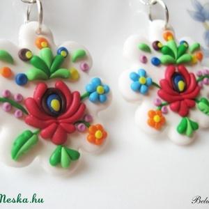 Matyó virág-fülbevaló (Belundika) - Meska.hu
