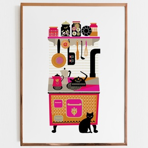 Sparhelt- illusztráció, print, poszter, falikép, dekoráció, Grafika & Illusztráció, Művészet, Fotó, grafika, rajz, illusztráció, Sparhelt- saját tervezésű illusztráció, print, poszter, falikép, dekoráció\n\nKépméret: A/4\nNyomat: 20..., Meska
