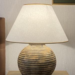 Nagy rusztikus asztali lámpa - Kerámia asztali lámpa - Meska.hu