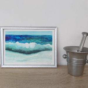 Hullám, Egyéb, Festészet, Akvarell festmény 21 x 29,7 cm \nA festmény 200 grammos Fabriano Akvarellpapírra készült.\nA keret nem..., Meska