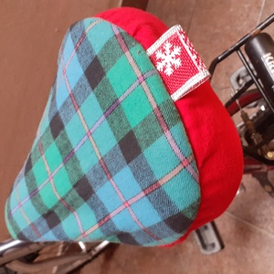 Téli bicikli nyereghuzat, meleg nyeregvédő huzat, puha háromrétegű biciklihuzat - Meska.hu