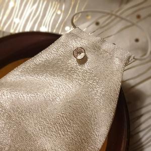Ünnepi ezüst női maszk, alkalmi maszk, maszk esküvőre, keresztelőre, koszorúslánynak, vintage maszk - Meska.hu