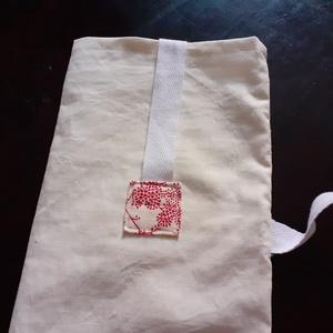 Pamut baguette zsák, vállra akasztható baguette zsák, fehér textil baguette zsák - Meska.hu