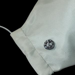 Swarovski kővel díszített alkalmi maszk, fehér selyem köves maszk esküvőre, keresztelőre, eljegyzésre, 2 rétegű fehér te - Meska.hu
